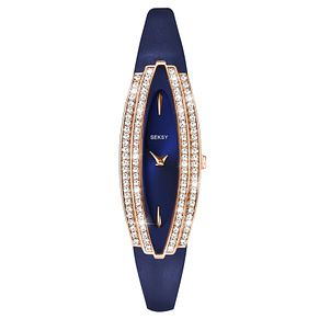 Seksy Ladies' Blue Leather Strap Watch - Product number 9434291