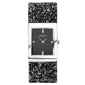 Seksy Ladies' Rocks® Rhodium Plated Bracelet Watch - Product number 9434305