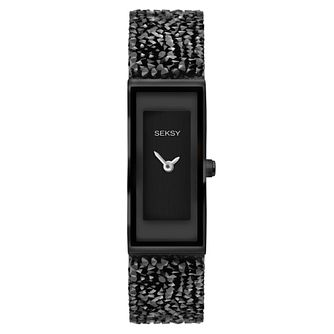 Seksy Ladies' Black Plated Bracelet Watch - Product number 9434313