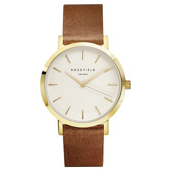 Rosefield Gramercy Ladies' Brown Leather Strap Watch - Product number 9435964