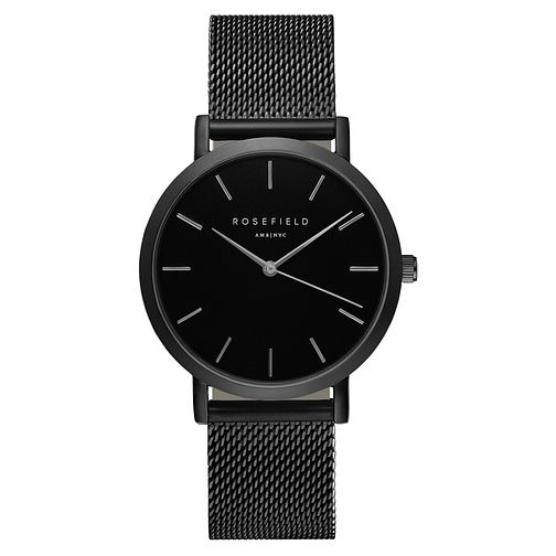 Rosefield Mercer Ladies' Black Mesh Bracelet Watch - Product number 9435972