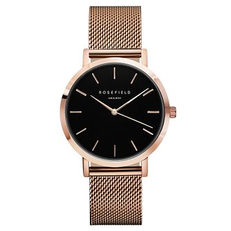 Rosefield Mercer Ladies' Rose Gold Mesh Bracelet Watch - Product number 9435980