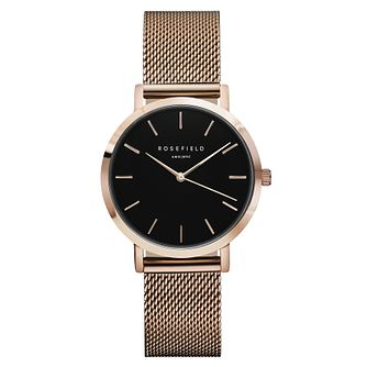 Rosefield Tribeca Ladies' Rose Gold Mesh Bracelet Watch - Product number 9436030