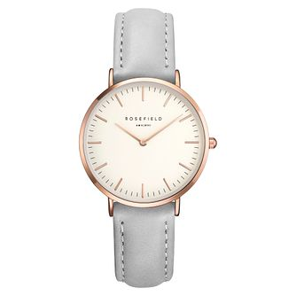 Rosefield Tribeca Ladies' Grey Leather Strap Watch - Product number 9436154