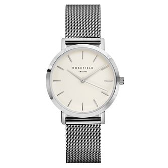 Rosefield Tribeca Ladies' Silver Mesh Bracelet Watch - Product number 9436189