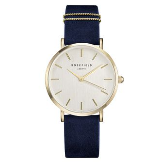 Rosefield Ladies' Blue Velvet Strap Watch - Product number 9436367
