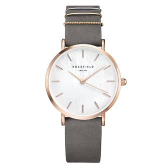 Rosefield Ladies' Grey Leather Strap Watch - Product number 9436421