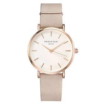 Rosefield Ladies' Pink Leather Strap Watch - Product number 9436510