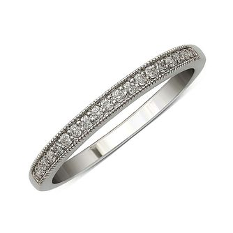 9ct White Gold & Diamond Perfect Fit Eternity Ring - Product number 9438661