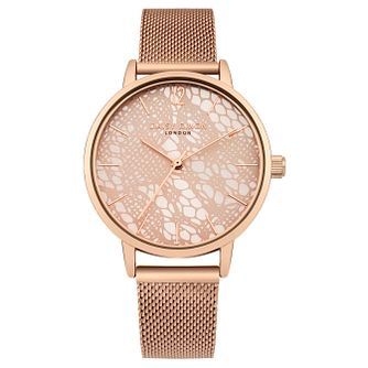 Daisy Dixon Darcy Ladies' Rose Gold Mesh Bracelet Watch - Product number 9442995