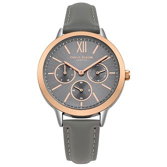 Daisy Dixon Heidi Ladies' Dark Grey Leather Strap Watch - Product number 9444459