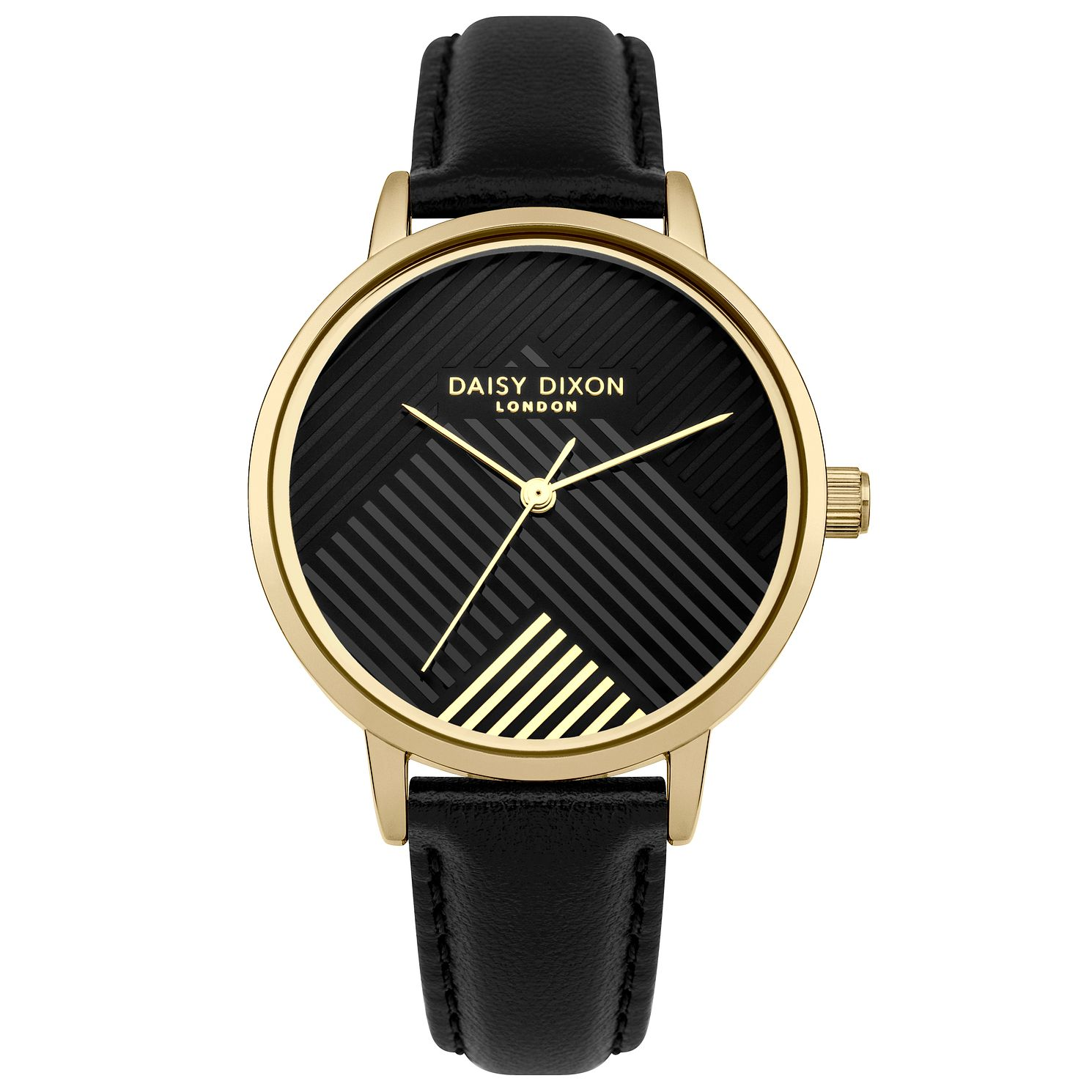 Daisy Dixon Jade Ladies' Black Leather Strap Watch - Product number 9444645