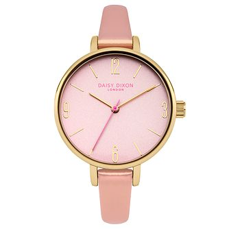 Daisy Dixon Khloe Ladies' Pink Leather Strap Watch - Product number 9444890