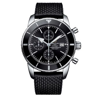 Breitling Superocean II Men's Black Rubber Strap Watch - Product number 9444939