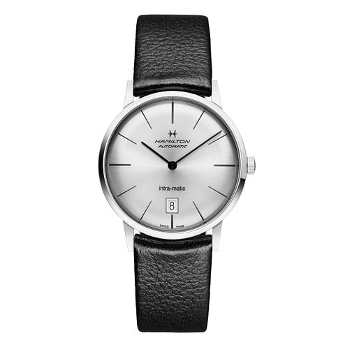 Hamilton men's automatic silver dial & black strap watch - Product number 9446443