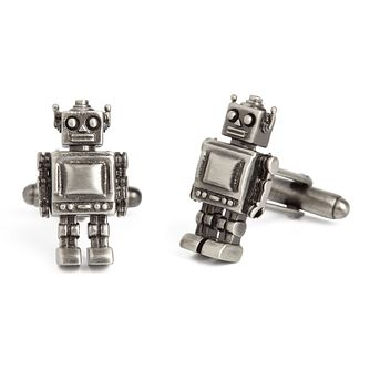 Simon Carter Robot Men's Stainless Steel Cufflinks - Product number 9448322