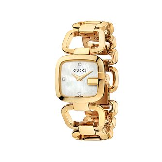 Gucci G-Gucci ladies' gold plated bracelet watch - Product number 9452214
