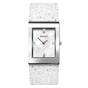 Seksy Rocks® Ladies' White Strap Bracelet Watch - Product number 9453156