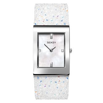 Seksy Rocks Ladies' White Strap Bracelet Watch - Product number 9453156