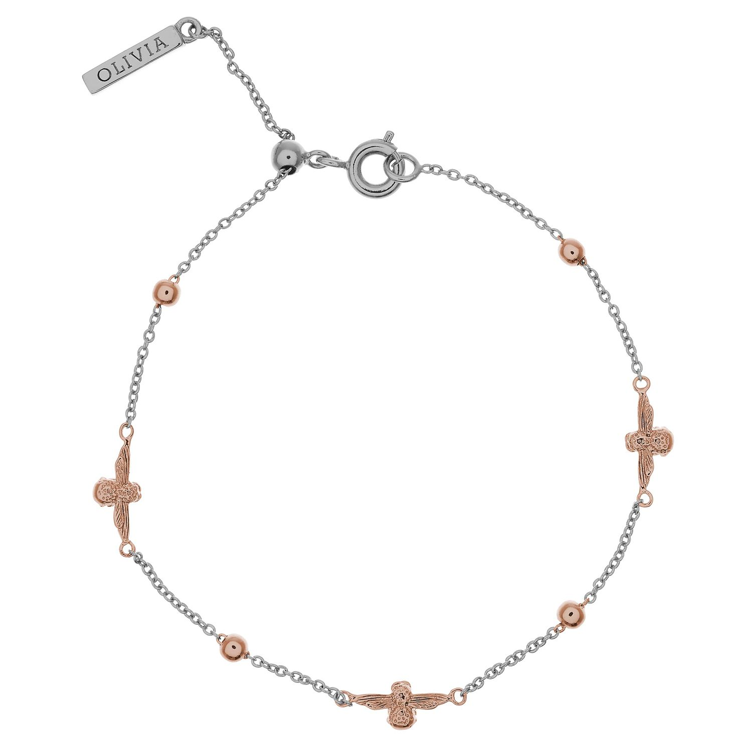 Olivia Burton 3D Bee Ladies' Rose Gold Plated Bracelet - Product number 9457305