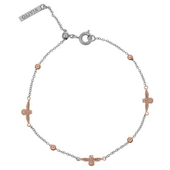 Olivia Burton 3D Bee Ladies' 'Rose Gold Plated Bracelet - Product number 9457305