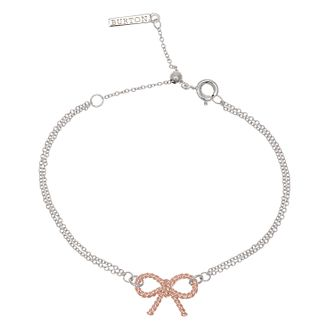 Olivia Burton Vintage Bow Ladies' Rose Gold Plated Bracelet - Product number 9457380