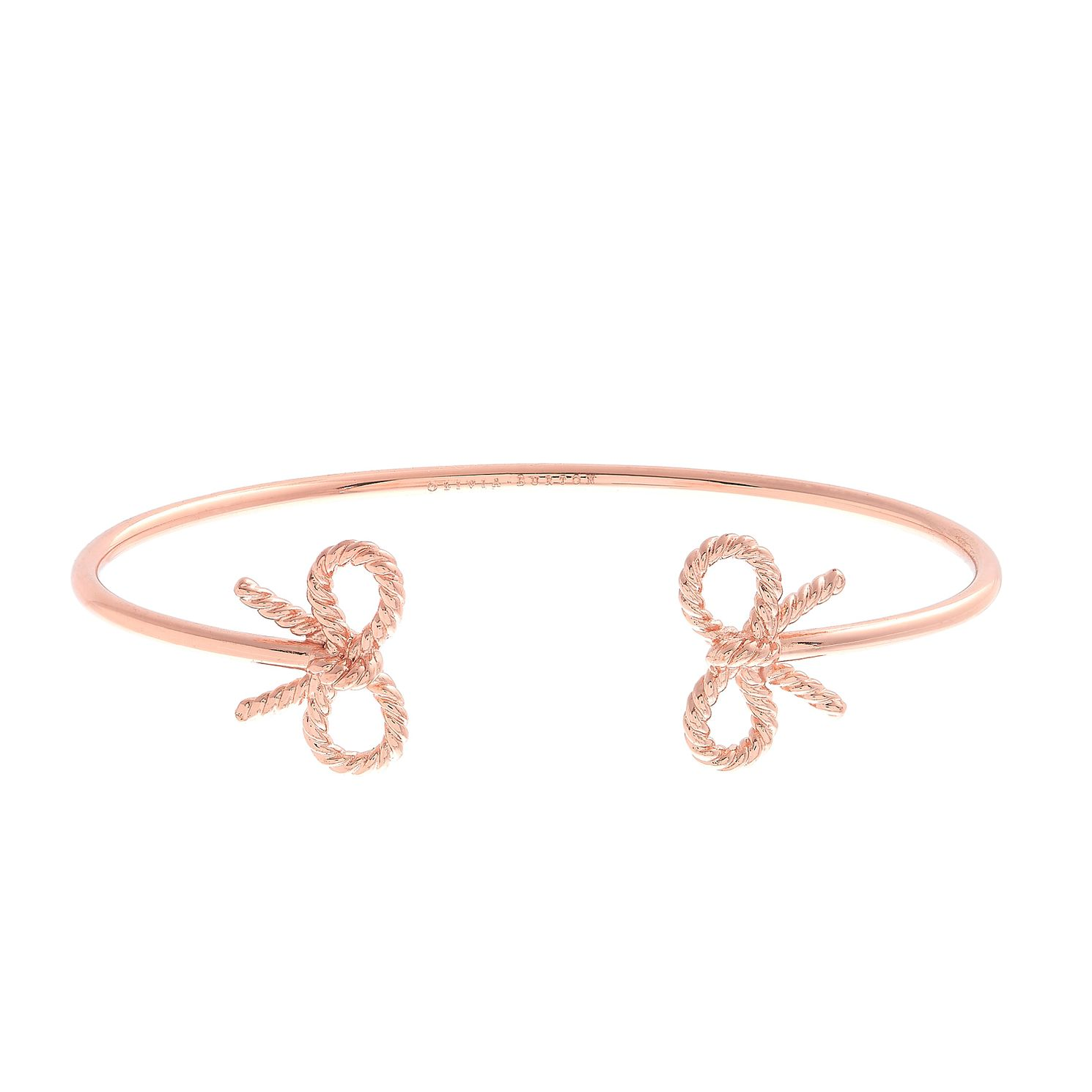 Olivia Burton Vintage Bow Rose Gold Plated Bangle - Product number 9457399