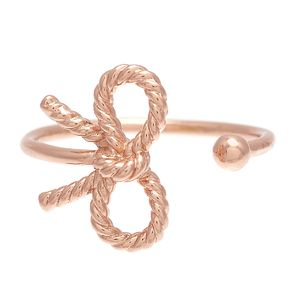 Olivia Burton Vintage Bow Ladies' Rose Gold Plated Ring - Product number 9457534