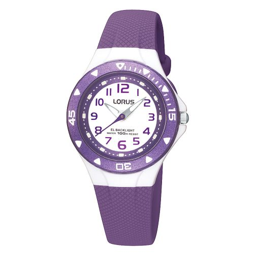 Lorus Children's Purple Plastic Strap Watch - Product number 9470662
