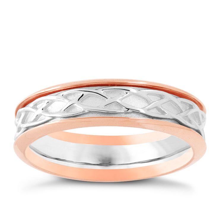 Clogau Silver & Rose Gold Eternal Love Ring