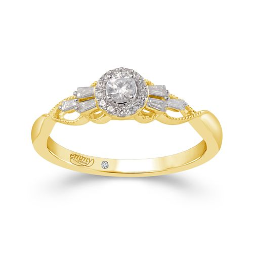 Emmy London 18ct Yellow Gold Halo 0.25ct Diamond Ring - Product number 9525262
