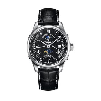 Longines Master Collection Men's Black Chronograph Watch - Product number 9528776