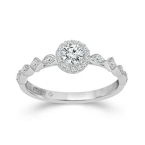 Emmy London Platinum Halo 0.33ct Diamond Ring - Product number 9529179