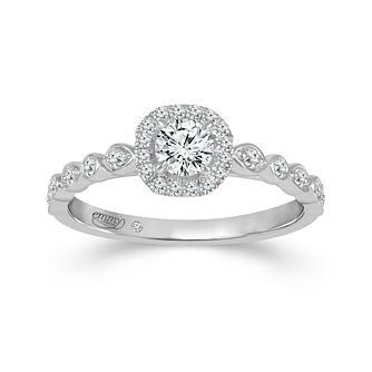 Emmy London 18ct White Gold Halo 0.40ct Total Diamond Ring - Product number 9529349