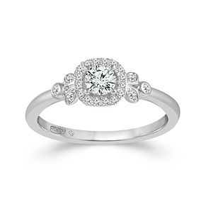Emmy London 9ct White Gold Halo 0.33ct Diamond Ring - Product number 9529764