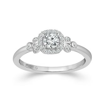 Emmy London 9ct White Gold Halo 0.33ct Total Diamond Ring - Product number 9529764