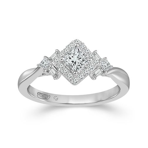 Emmy London 18ct White Gold Baguette 0.50ct Diamond Ring - Product number 9530037
