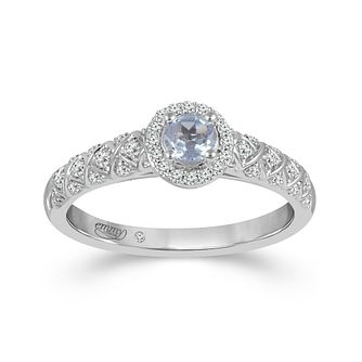 Emmy London 18ct White Gold Aquamarine 0.16ct Diamond Ring - Product number 9532544