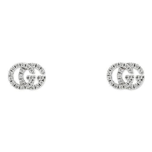 d56613679 Gucci Running G 18ct White Gold Diamond Earrings - Product number 9540504