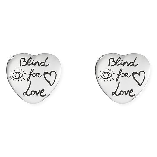 Gucci Silver Blind for Love Heart Earrings - Product number 9540598