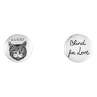 Gucci Silver Blind For Love Cat Earrings - Product number 9540601