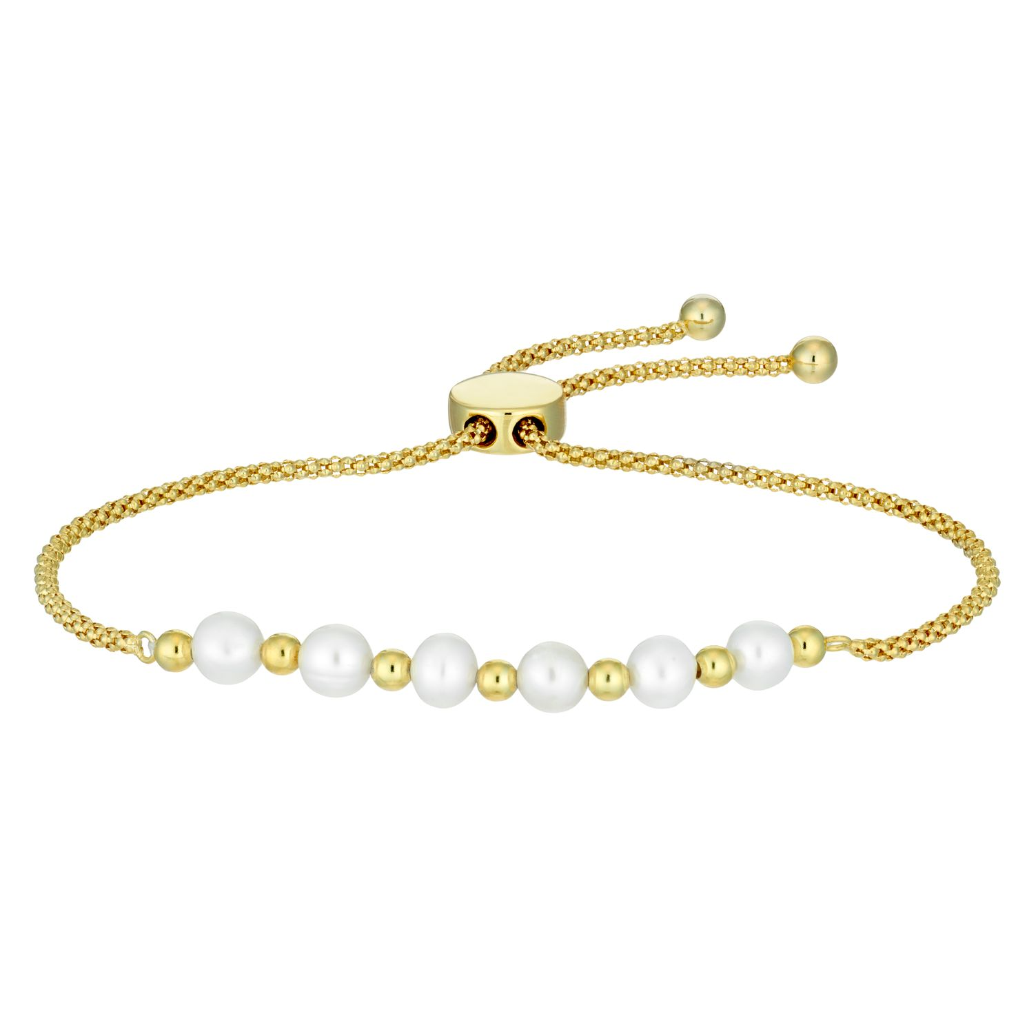 Cultured Freshwater Pearl Yellow Gold Plated Bracelet - Product number 9540709