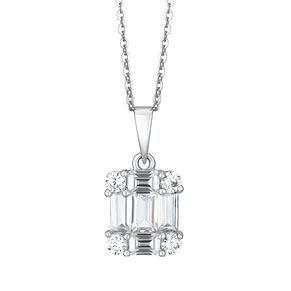 Ladies' Silver Multi Stone Pendant - Product number 9540733