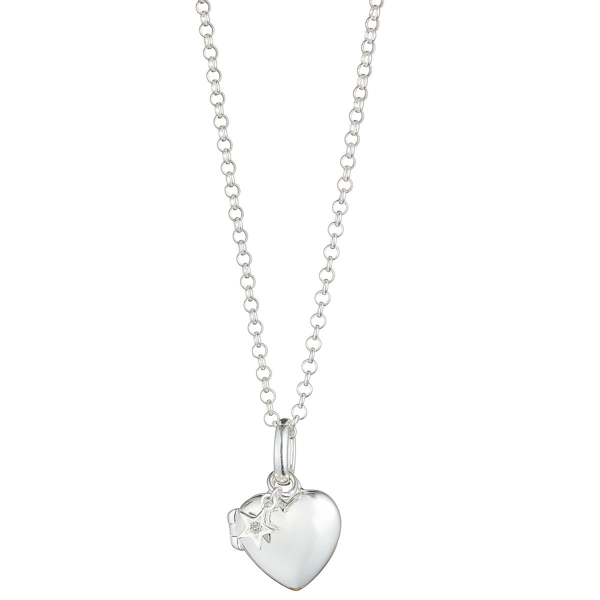 Molly Brown Sterling Silver Diamond Heart Locket - Product number 9540741
