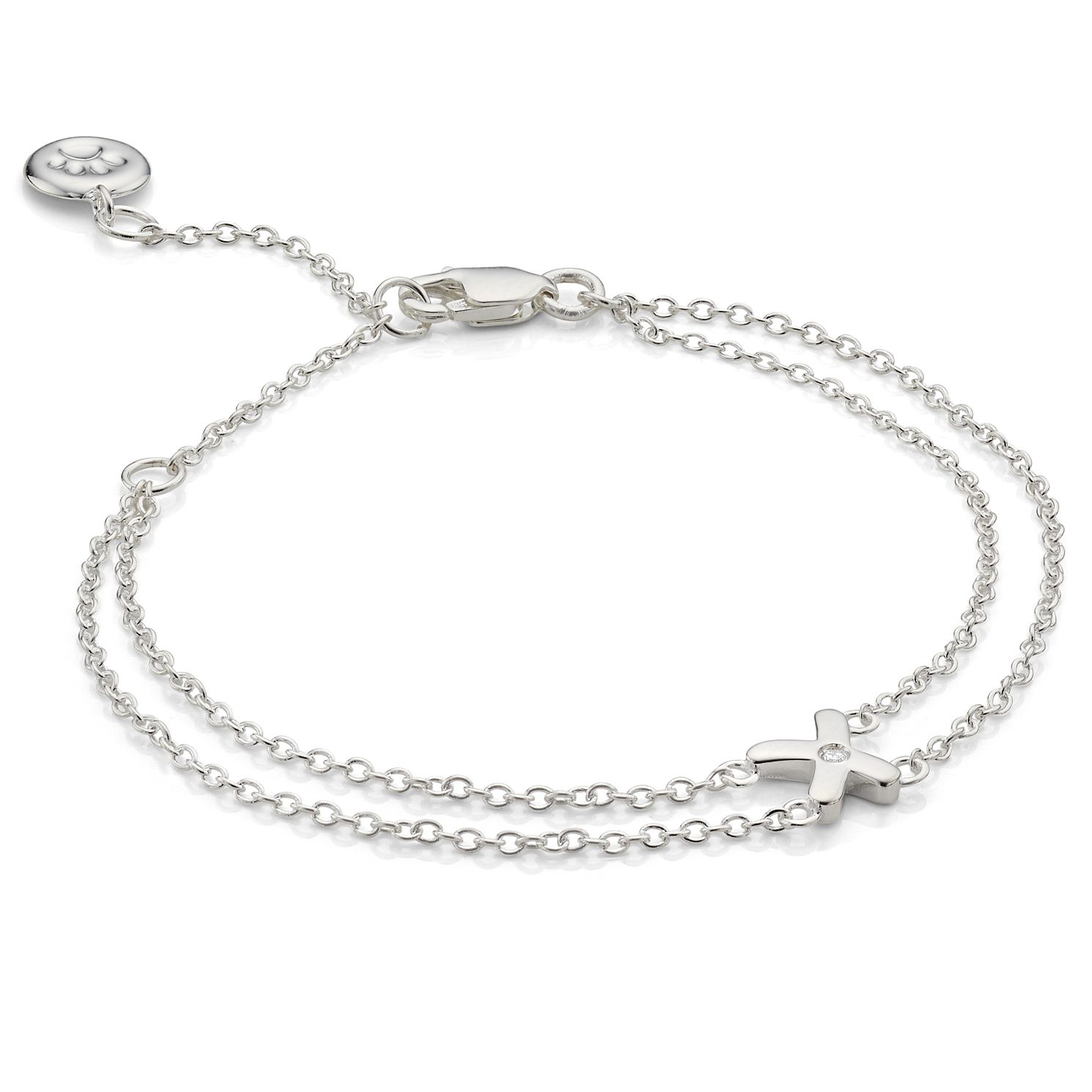 Molly Brown My 1St Sterling Silver Diamond Kiss Bracelet - Product number 9540784