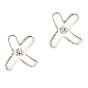 Molly Brown My 1st Sterling Silver Diamond Kiss Earrings - Product number 9540806