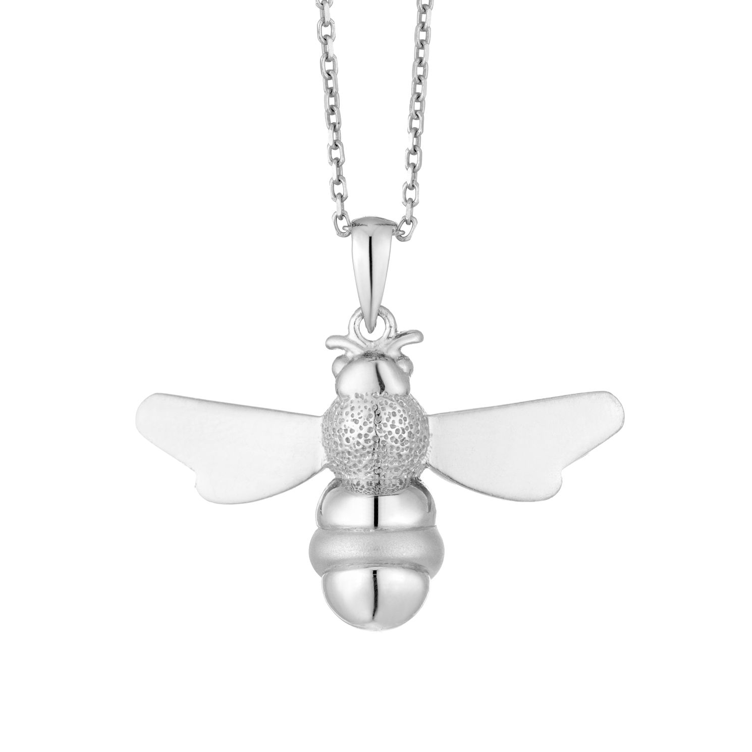Ladies' Silver Bee Pendant - Product number 9541977