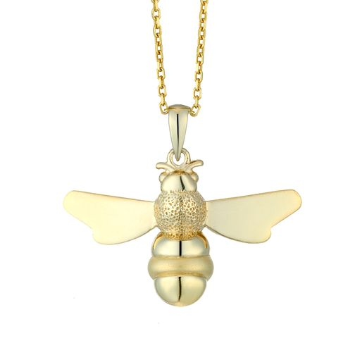 Ladies' Yellow Gold Plated Bee Pendant - Product number 9541985
