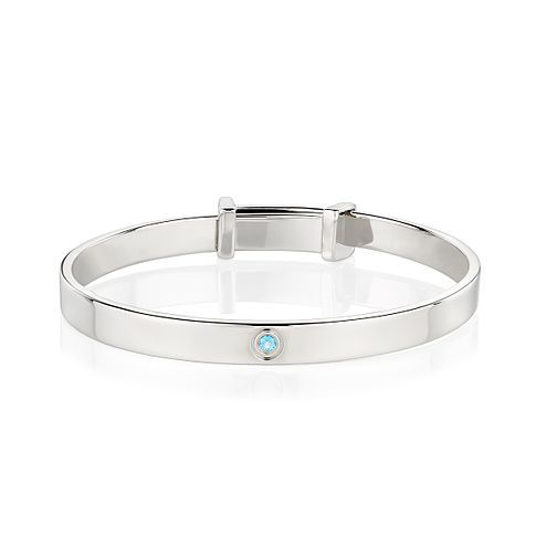 Molly Brown March Aquamarine Christening Bangle - Product number 9542027