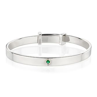 Molly Brown May Emerald Christening Bangle - Product number 9542043